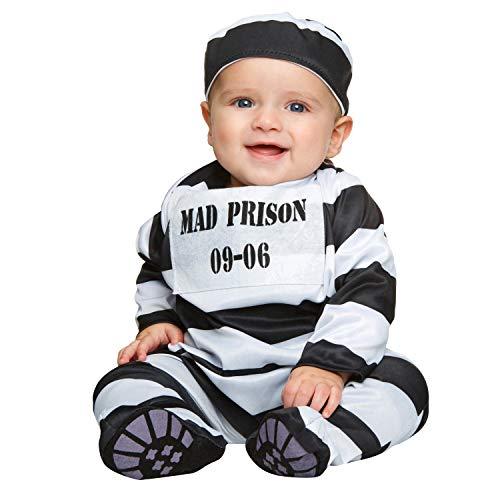My Other Me Me-202512 Disfraz de preso bebé para niño, 7-12 meses (Viving Costumes 202512