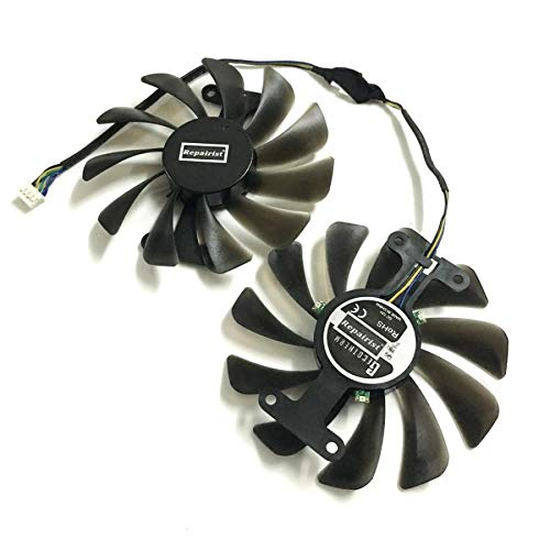 Miwaimao Graphics Card Fan Galaxy GTX1070Ti GPU Alternative Cooler for ELSA GeForce GTX 1070 GTX1080 8GB GLADIAC Card As Replacement