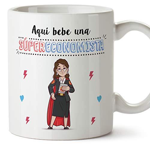 MUGFFINS Taza Economista Mujer (Superhéroes() - Regalos Originales y Divertidos de Economía