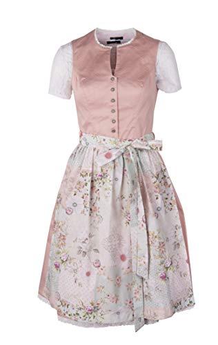 Ramona Lippert - Damen Dirndl Conny 2-teilig in apricot 42 - Dirndlkleider für Jede Größe - wunderschönes Trachtenkleid - Tracht mit Schürze hochgeschlossen