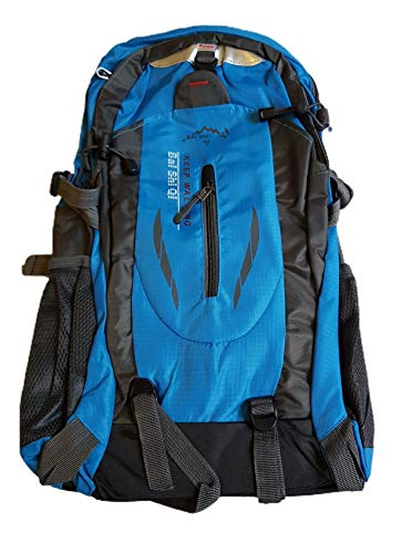 Provance 45L leichter Reiserucksack Wanderrucksack, Multifunktionale Tagesrucksack, Faltbare Camping Trekking Rucksäcke, Utra Leicht Outdoor Sport Rucksäcke Tasche (Blau)