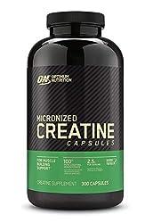 Optimum Nutrition Micronized Creatine Monohydrate Capsules, Keto Friendly, 2500mg, 300 Capsules (Pac
