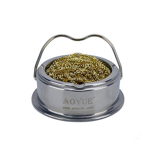 Aoyue Soldering Iron Tip Cleaner with Brass wire sponge, no water needed