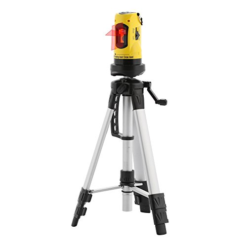 CO-Z Line Laser Level with Tripod, Auto Leveling Kit Combo with Horizontal/ Vertical/ Cross-Line, Dual-module Self-Leveling Laser Alignment Tool Set for Hanging Pictures