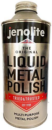 JENOLITE Pulido de metal líquido - Pulido para latón, cobre, cromo, acero inoxidable y peltre - 1 Litre