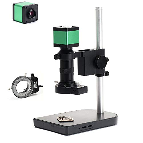 Industrie Mikroskop Kamera Full Set 14MP Digitale Mikroskopkamera HDMI USB IR Fernbedienung fur Löten von Leiterplatten Telefonreparatur Werkzeug Vergrößerung