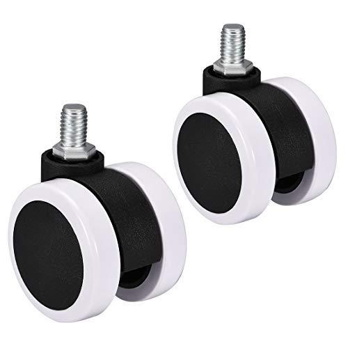Lenkrollen – Zwillingsrollen 2 Zoll Pu M10 x 15 mm 2 Stück