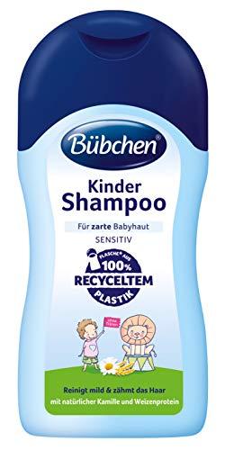 Bübchen Kinder Shampoo, reinigt mild & zähmt das Haar, mit natürlicher Kamille und Weizenprotein, 400ml