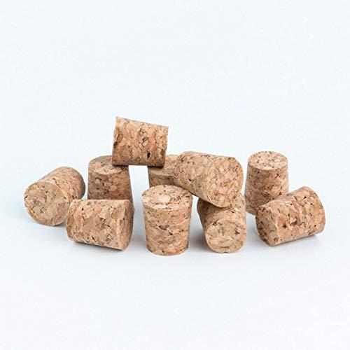 HUGBERT Konischer Korken Naturkorken, Flaschenkorken Stopfen Wein Verschluss, 24x34/31 mm, 20 Stück