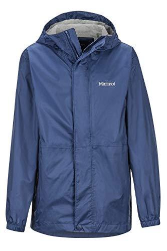Marmot Boy's Precip Eco Jacket Giacca Antipioggia Rigida, Impermeabile, Antivento, Impermeabile, Traspirante, Bambino, Arctic Navy, XS