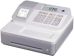 Casio SE-G1SB-WE - Caja registradora (cajón pequeño/grande, impresora, pantalla LCD), color blanco