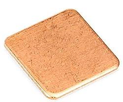 Easycargo 4pcs 40mm Copper Pad Shim Thermal Kit, Cooler Copper Pad heatsink for Cooling CPU GPU Laptop 40mmx40mmx0.5mm