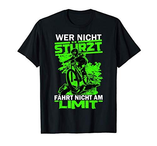Downhill Jungen MTB Wer Nicht Stürzt Fährt Nicht Am Limit T-Shirt