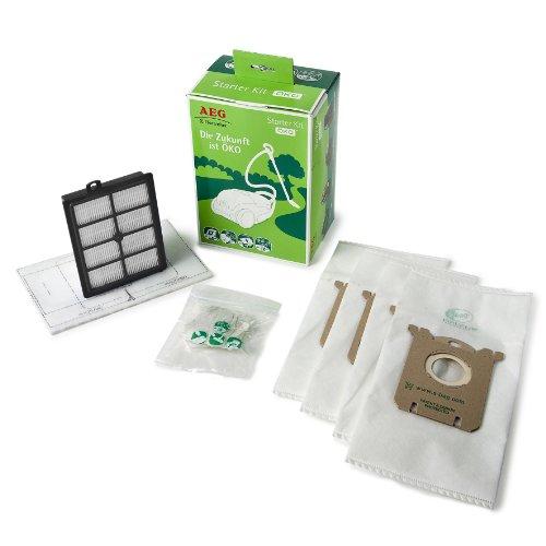 AEG GSK 2 S-bag Kit eco sacchetti per aspirapolvere, filtro HEPA 13 lavabile, filtro motore, deodorante al profumo di pino s-fresh