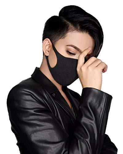 CINZYA SLIM - Japanische Maske | 3D Ninja Maske | Mundschutz | weich, waschbar, wiederverwendbar, hautfreundlich (Schwarz)
