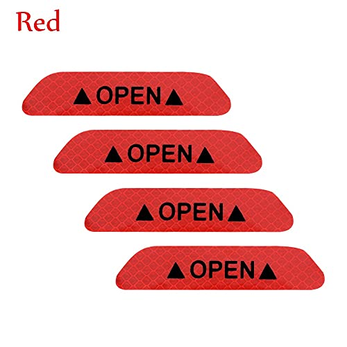 LPL Etiquetas Reflectantes de la ceja de la Rueda práctica Pegatinas de Fibra de Carbono Protección para BMW Volkswagen Mazda Audi (Color : 4Pcs Red)