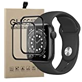 Young & Min Vetro Temperato per Apple Watch Series 6/SE 44mm,[2 Pezzi] 3D Curved Edge to Edge,Anti-Graffio, Pellicola Protettiva per Apple Watch 6/SE 44mm
