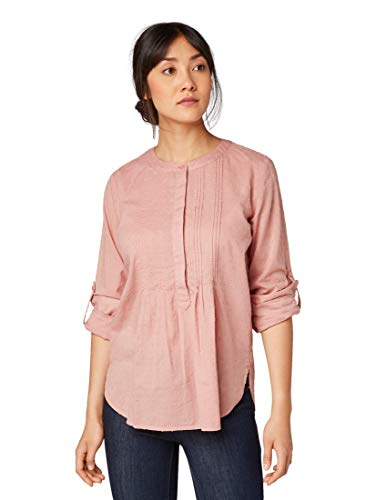 TOM TAILOR Damen Blusen, Shirts & Hemden Bluse mit Struktur-Muster Vintage Rose,40