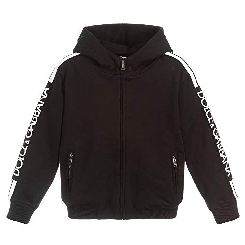 Dolce & Gabbana Logo Bordo Hoodie Black 8 Years