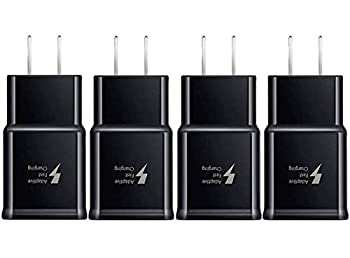 Samsung Adaptive Fast Charging Adapter Quick Charge Charging Block Wall Charger Plug Compatible Samsung Galaxy S10 S9 S8 S7 S6 Note 8 9 iPhone LG HTC and More 4-Pack