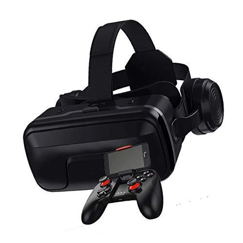 Shxchen VR Gafas de Realidad Virtual Auriculares 3D VR Glasses para Movil Juegos y Videos para iPhone 12/11/Pro/X/Xs/Max/XR/Mini/8/7/6 para Android Samsung S/20/10/9/8/Plus/Note