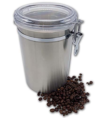 PlusMoment Kaffeedose Luftdicht 500 g, Kaffeebehälter, Kaffeedose Edelstahl Aromadose Vorratsdose Vakuum Dose für Kaffeebohnen, Pulver, Tee, Nüsse, Kakao