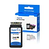 SuperInk Remanufactured Ink Cartridge Compatible for Canon CL-246XL CL-246 246XL 246 XL Pixma MG2522 MX492 MG2520 MG2920 MG2420 MX490 MG2525 MG2555 MG3020 Show Accurate Ink Level (Tri-Color,1 Pack)