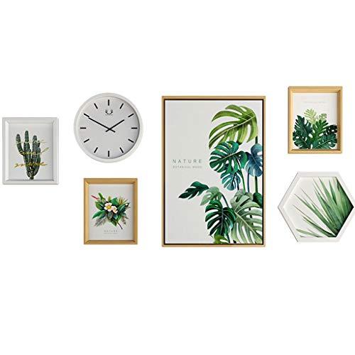Xiao Jian- foto muur fotolijst muur bamboe vers groene plant decoratieve schilderkunst fotolijst muur combinatie foto muur