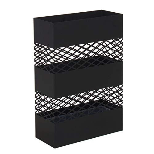Vidal Regalos Paragüero Metalico Negro Paraguas 49 cm