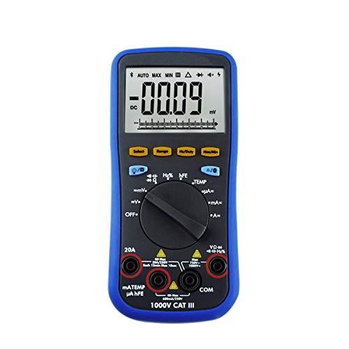 cjcaijun Metros de Laboratorio B35T 6000 Counts Advertencia Digital portátil multímetro de Verdadero Valor eficaz de Bluetooth de Voz soportados con la Fuente de alimentación