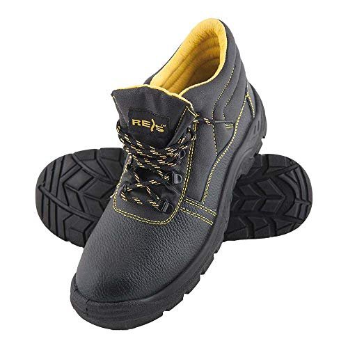 Reis BRYES-T-S1_50 Yes - Calzado de seguridad (talla 50), color negro y amarillo