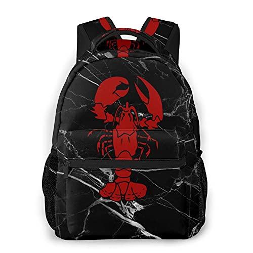 VJSDIUD Casual Maine Lobster neri Backpack- leggeri Daypacks Bookbags per le donne gli uomini