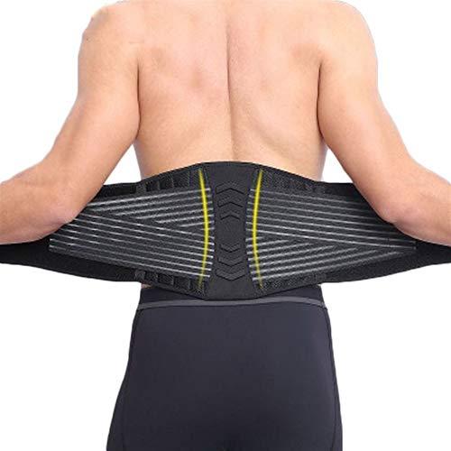 RZDJ 8 Federn Stützende Taille Bandage Übung Fitness Gewicht Squat Ausbildung Nierengurt Rückenstütze Kompression for Männer (Color : Black, Size : XL)