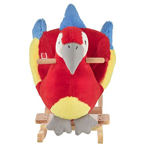 Home & More Chic New Nice Indoor Childrens Swaying Parrot Animal Chair Play Toy for Kids 18-36 Months Old Accent Gift