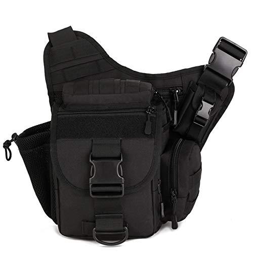 HUKJ Super Satteltasche Single Reverse Camera Package Outdoor Cather Outdoor Catheras Tasche, EIN Einzelner Schulter-Rucksack-Messenger Bag Big Satteltasche-Paket Mehrzweck-Tasche,Schwarz