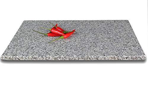 DiConcetto Tabla de cortar de granito, placa de piedra, placa de granito (30 x 20 x 1, cristal de granito)