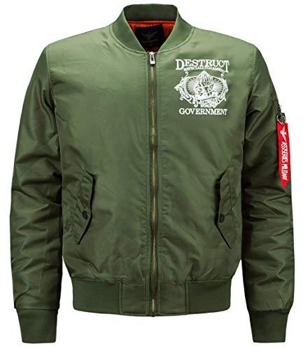 HaiDean heren herfst winter warm Air Force bomberjack patches moderne nonchalant lichte jas bomber mannen Ntel Mens Light Jacket EU