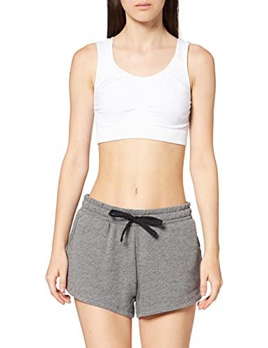 Marca Amazon - AURIQUE Shorts para el Gimnasio Mujer, Gris (Grey Marl), 40, Label:M