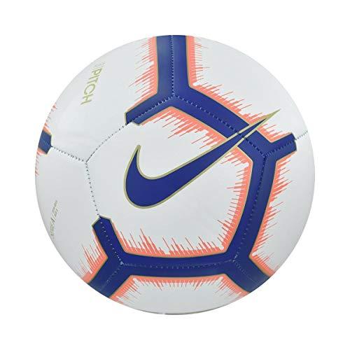 Nike Serie A Pitch (2018/2019) Pallone da calcio Unisex adulto, White/Bright Mango/Royal Blue/Royal Blue, 5