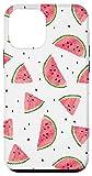 iPhone 12 mini Watercolor Watermelon Pattern White Case