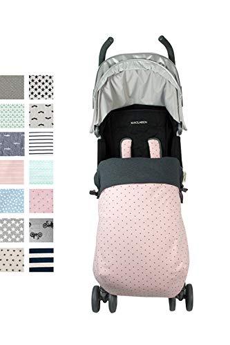 Fundas BCN ® - SC40/4597 - Cubrepiés para silla de paseo - Estampado Little Fun Peach