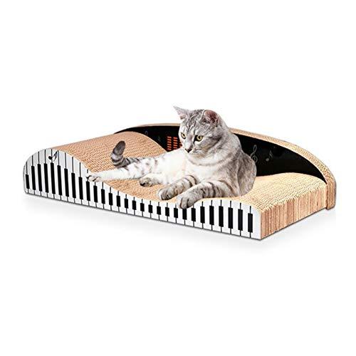 ANANAN Cat Scratch Board Karton, Wellpappe Piano Scratch Board, Cat Scratch Board Spielzeug, Mit Katzenminze, Cat Scratch Board Recyceltes Wellpappe Cat Scratch Board Lounge Langlebig