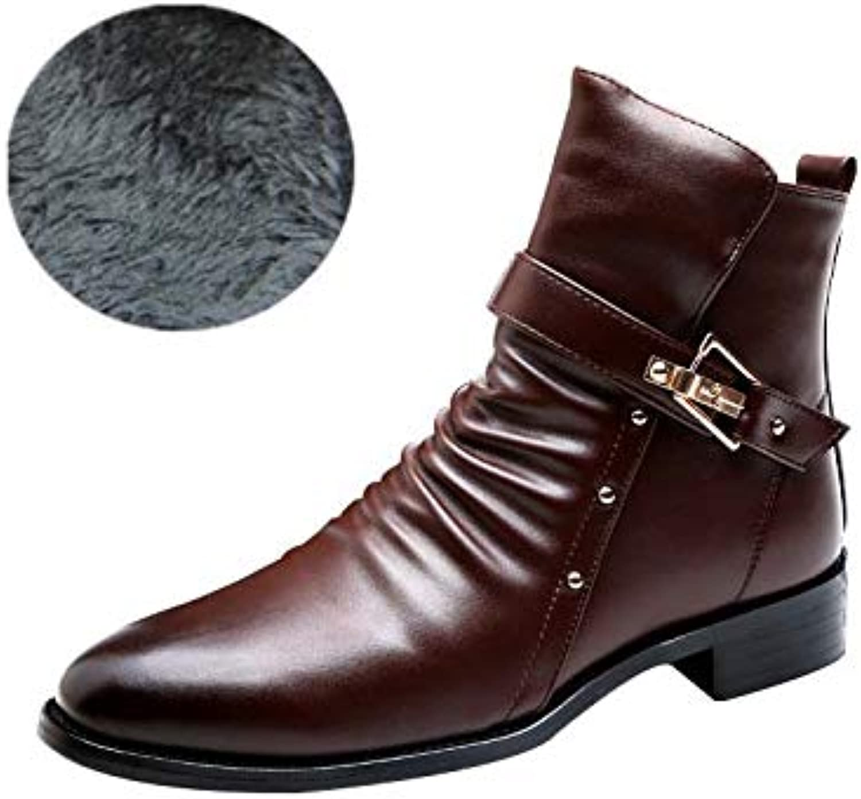 Chelsea Ankle stövlar, stövlar, stövlar, Winter Warm läder Executive Zip stövlar Comfortable High Top Ankle skor Work Cowboy Biker stövlar skor  gör rabattaktiviteter