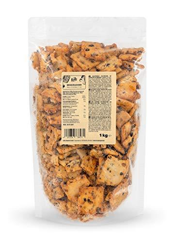 KoRo - Reiscracker Soja Cookies 1 kg – Asiatisches Reisgebäck mit schwarzen Sojabohnen – Super crunchy – Perfekt für Käseplatten, als purer Snack oder als Topping – Vorteilspackung