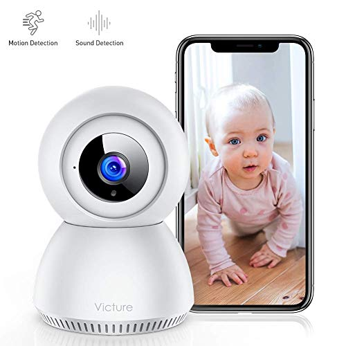 Victure 1080P FHD Baby Monitor with Smart Motion Tracking Sound Detection 2.4G WiFi Home Security Camera Indoor IP Surveillance Pet Camera with Night Vision, 2-Way Audio