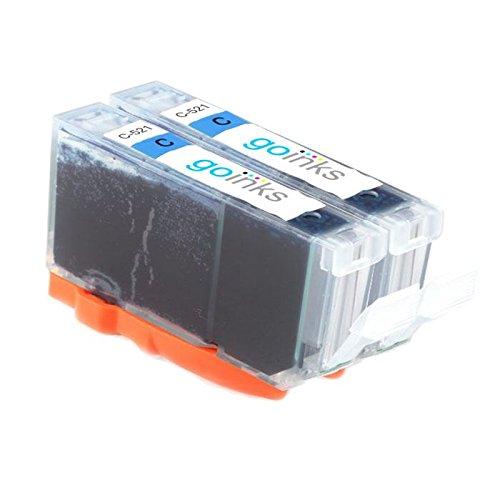 Go Ink Cyan inktpatronen als vervanging voor Canon CLI-521C - compatibel met PIXMA printer (2 inkt)
