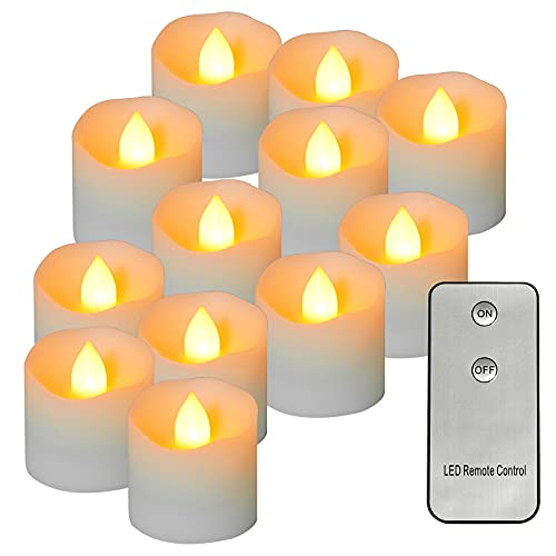 LED Tea Lights Candles,Battery Operated with Remote Control, Flameless Flickering Votive Candles for Home Wedding Party Decorations