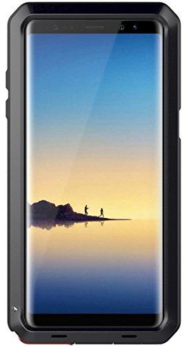 seacosmo Custodia Galaxy Note 8, Cover Protettiva Doppio Strato Military Protezione Alluminio Case per Samsung Galaxy Note 8, Nero