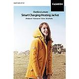 HIOD Chaqueta de Mujer - Smart Heating Coat Chubasquero Impermeable Aislamiento Transpirable Chubasquero Cálido,Yellow,L(158-162cm)