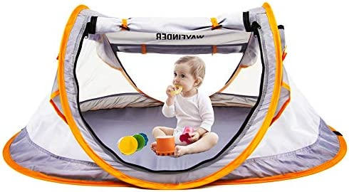Pop Up Baby Beach Tent UPF 50 Sun Shelter Infant Portable Mosquito Net and Sunshade for Baby product image